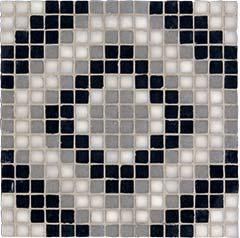 NEUTRA 6.0 Decor B Dark Mosaico Mix** Tessere 01 Bianco Lux, 07 Carbone Lux, 04 Ferro Lux   30x30cm (1,8x1,8cm)  Rett. hr. 4,5mm